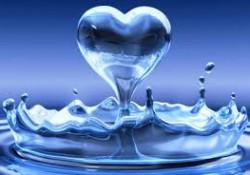 water heart drop