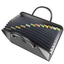accordian file with handles