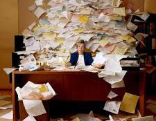 extra paper in office